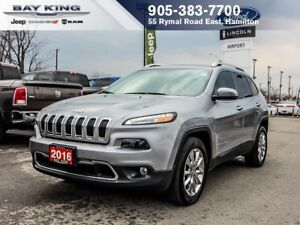2016 Jeep Cherokee LIMITED, SUNROOF, BACKUP CAM, BLUETOOTH, HTD