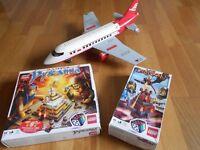 Lego Airplane & Two Lego Games