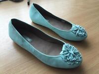 Ecco blue ladies slip-on shoes NEW