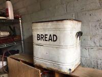 Original Enamel Bread Bin 2 Available