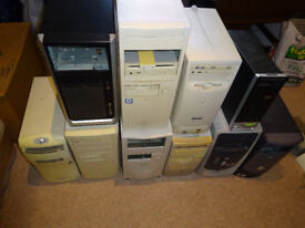 Desktop Computer Cases / Power Supplies / Cables - Assorted Spares
