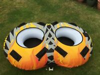 Double Ringo Rage Frantic Boat Towable inflatable