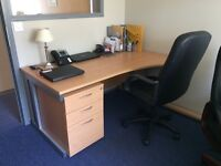 Selection of desks and office furniture