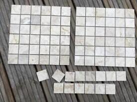 Mosaic tiles beige/ cream left over from a project