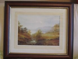 Country Scene Framed Pictures 1 Large, 2 Medium