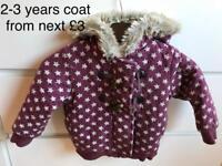 2-3 years girls coat