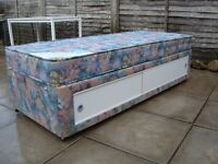 Single 2ft 6 ins divan bed and mattress... in very good condition...