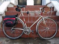 Vintage Steel Raleigh with Panniers and Mudguards (Men's Large) £250