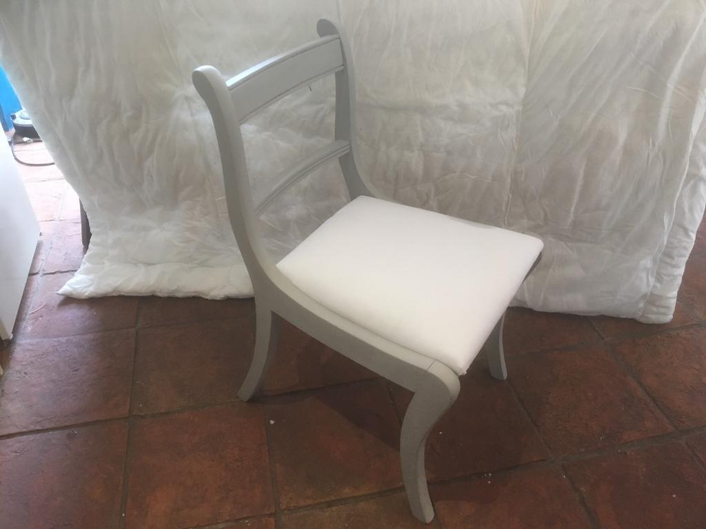 Covered seat, up cycled antique chair