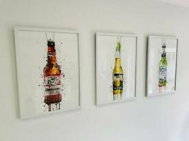 3 x A2 size beer artwork