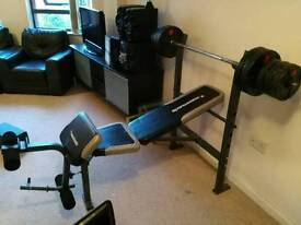 Multi gym bench with 30kg starting weights