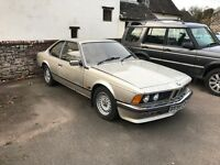 BMW 635 CSI auto unfinished project
