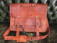 Vintage style Leather Messenger Bag /near new