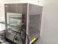 CATERING COMMERCIAL HOT FOOD PIE PIZZA HEATED WARMER CABINET DISPLAY CAFE RESTAURANT KEBAB SHOP BAR