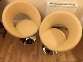 """Pair of Dwell swivel dining chairs in """"as new"""" condition"""
