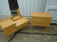 Chest of drawers and dressing table