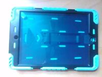 Imaculate Ipad mini mac 4 tablet tough case built in stand screen protection blue &black never used