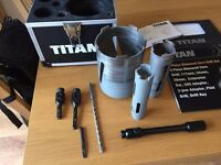 Titan Core Drill Set - Used for 1 DIY job only