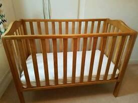 John Lewis cot and mattress