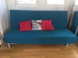 Ikea 3 seat Sofa Bed Turquoise cover (Originally £120)