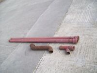 Cast iron drain pipe