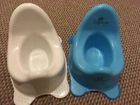 X 2 potties and trainer seat