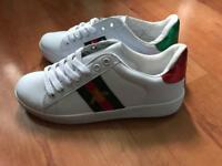 White womens fashion trainers size 6 1/2 new