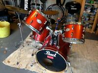 PEARL VISION DRUM KIT FOR SALE, NO SNARE, GOOD CONDITION £200 HOLYWOOD