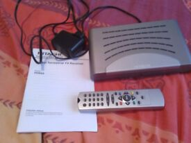 Freeview Hitachi HDB60 with remote, mains and instructions