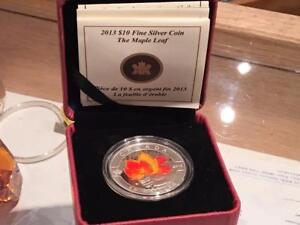 2013 $10 O Canada: Maple Leaf - Pure Silver Coin