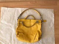 Coach Leather Yellow Handbag / Small