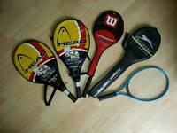5 x TENNIS RACKETS