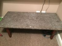 Marble and Fossil coffee table