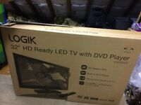 """32"""" Logik TV with built in DVD player"""