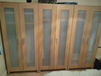 3x Wardrobes | | A lot of space | Extra shelf | Birch