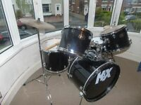 KIX drum kit- good condition, no damages, easily dismantled and reassembled