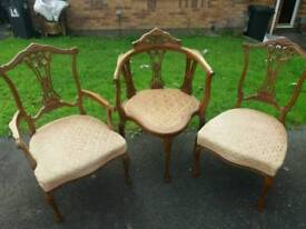 Stunning carved antique chairs