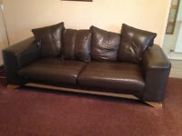 Large 3 seater leather sofa -free