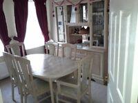 10 piece limed oak dining furniture