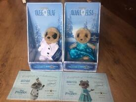 Limited edition Olaf and Elsa Oleg Collectables