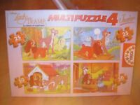 LADY & THE TRAMP 4 PUZZLE SET - IMMACULATE & COMPLETE 2x25pc + 2x50pc