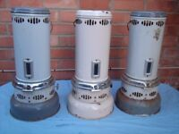 VINTAGE VALOR 205 PARAFFIN GREEN HOUSE HEATERS X3