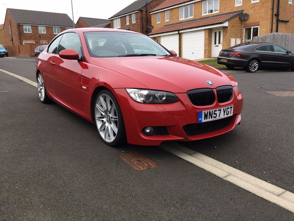 bmw e92 320d coupe m sport in crimson red 6500 no offers in hartlepool county durham gumtree. Black Bedroom Furniture Sets. Home Design Ideas