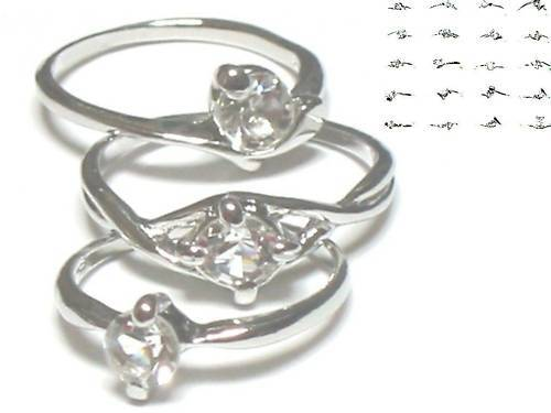 200 simulated diamond RINGS WHOLESALE LOT GIRL