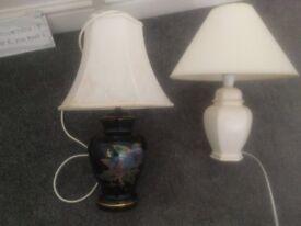 2 X BEDSIDE LAMPS