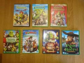 DVD's Collection Of Shrek Films Seven In Total As New Condition £1 Each
