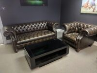 Chesterfield Sofa set - High quality piece in excellent condition, originally £6K from Harrods