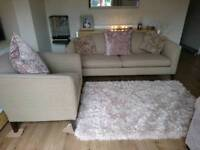 Designer Tweed Contemporary Sofa & Armchair, Immaculate, (FROM THE USA 🇺🇸) DELIVERY AVAILABLE