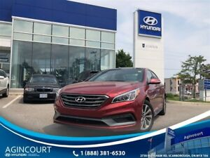 2015 Hyundai Sonata Sport|LEATHER|PANOROOF|BLINDSPOT|BCAM|OFF LE