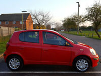 Toyota YARIS , 2003 , 5 doors , Hatchback , 93800 miles , 1l , Petrol, Red